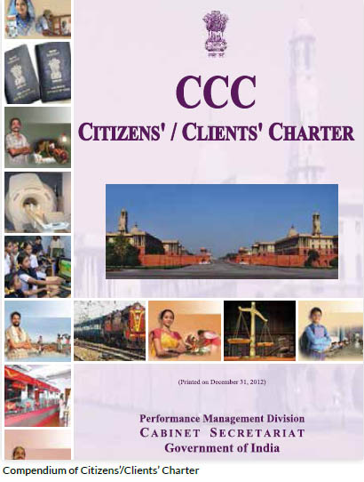 Compendium of Citizens'/Clients' Charter
